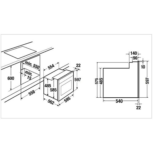 SETH6120 KUPPERSBUSCH Oven tbv combinatie met kookplaat