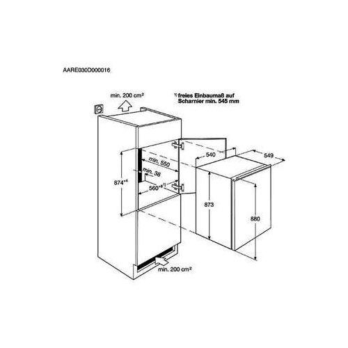 SFK688F1AS AEG Inbouw koelkast t/m 88 cm
