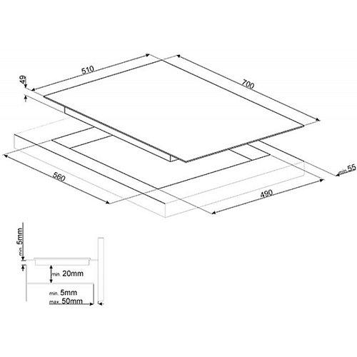 SI1M7743B SMEG Inductie kookplaat