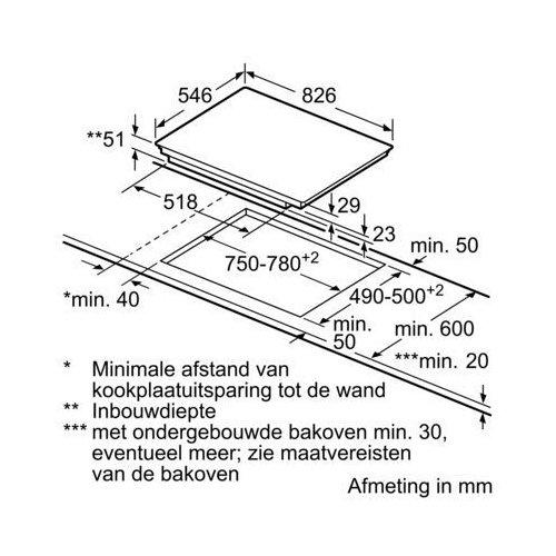 T58TS2RN0 NEFF Inductie kookplaat