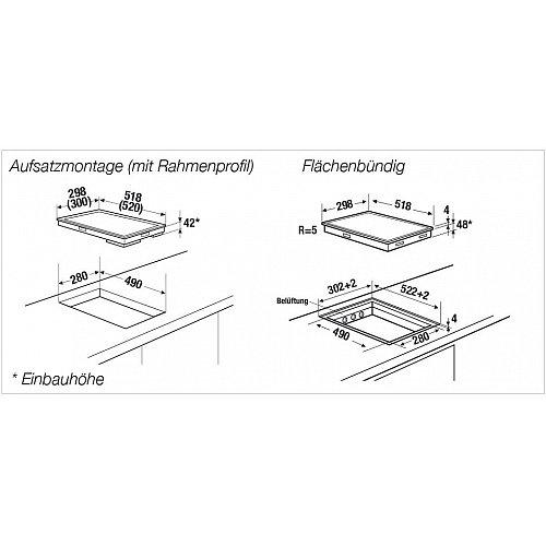 VKE33000SR KUPPERSBUSCH Keramische kookplaat (domino)