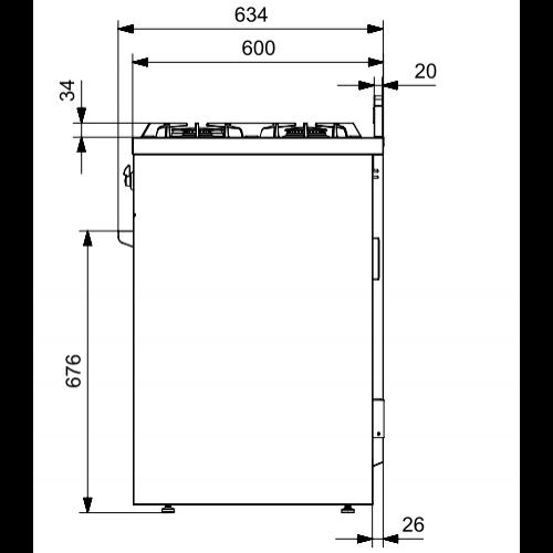 X10FF6BR STEEL Fornuis 100 cm