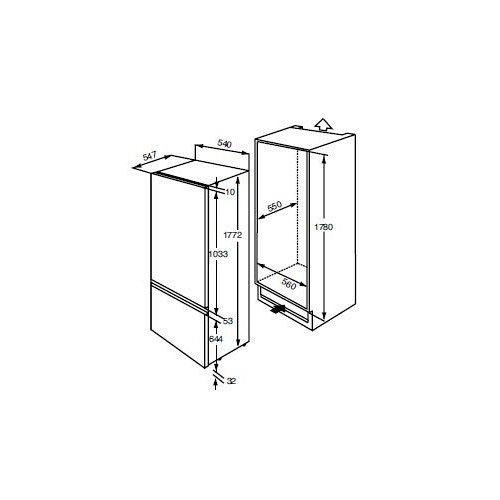 ZBB3294 ZANUSSI Inbouw koelkast vanaf 178 cm