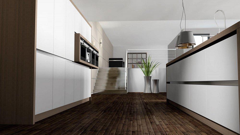 Greeploze Keuken Kookeiland : Strakke greeploze keuken met kookeiland Keukens op maat