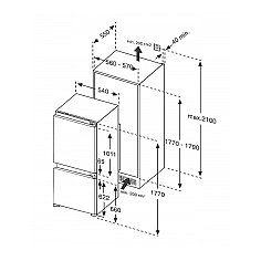 BKVD179 BORETTI Inbouw koelkasten vanaf 178 cm