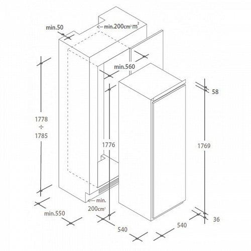 CFFO3550E1 CANDY Inbouw vriezer