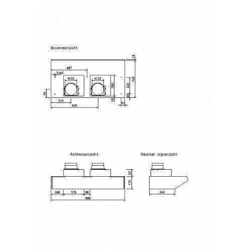 D750 NOVY Onderbouw afzuigkap