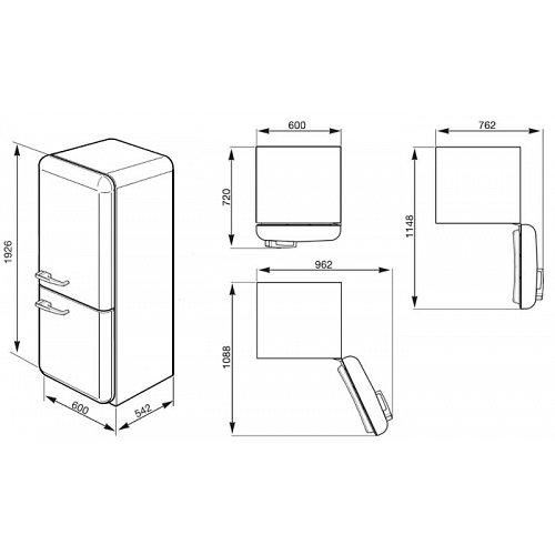 FAB32LBN1 SMEG Vrijstaande koelkast