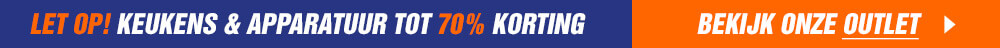 Outlet - Keukens & apparatuur tot 70% korting