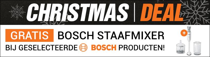 Christmas deal: Gratis staafmixer bij geselecteerde Bosch apparaten