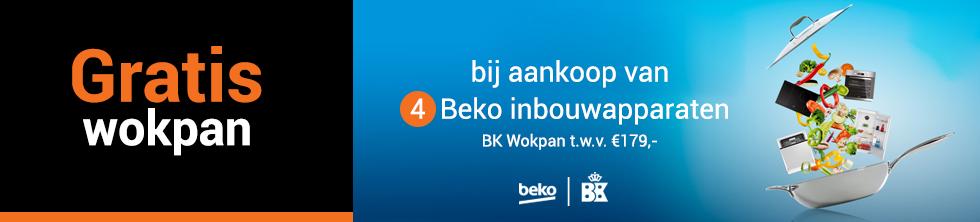 Gratis wokpan bij aankoop van 4 Beko inbouwapparaten!