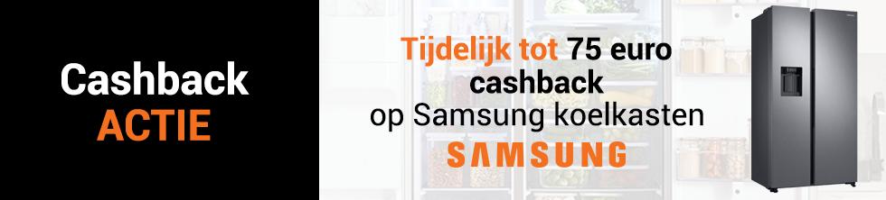 Tot 150 euro cashback op geselecteerde Samsung koelkasten!