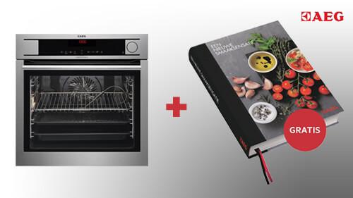 Gratis kookboek bij aankoop van een AEG SteamPro of SteamBoost oven!