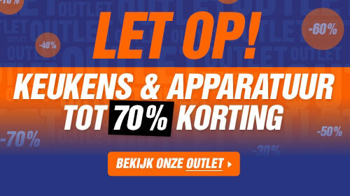 Outlet: Keukens & apparatuur tot 70% korting