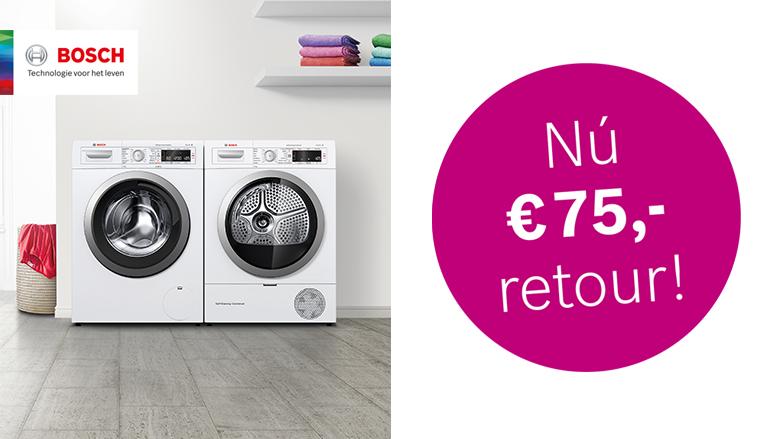 €75,- euro retour bij Home Professional Bosch wasmachine!