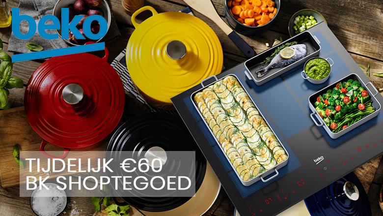 €60 euro shoptegoed bij aankoop van BEKO inductiekookplaat