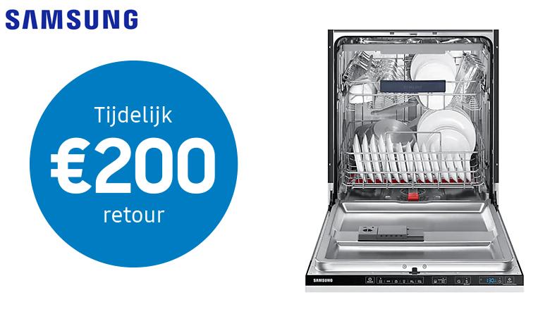 €200 euro retour bij Samsung vaatwasser