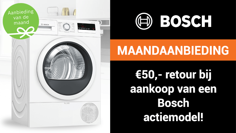 Ontvang 50 euro retour op geselecteerde Bosch-apparatuur