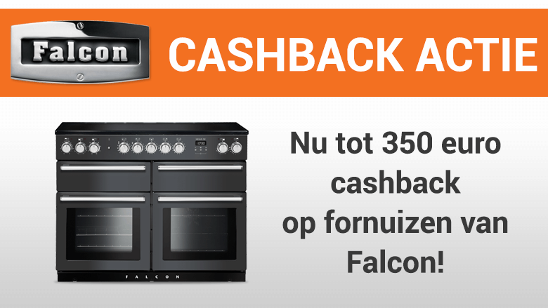 Tot 350 euro cashback op fornuizen van Falcon!
