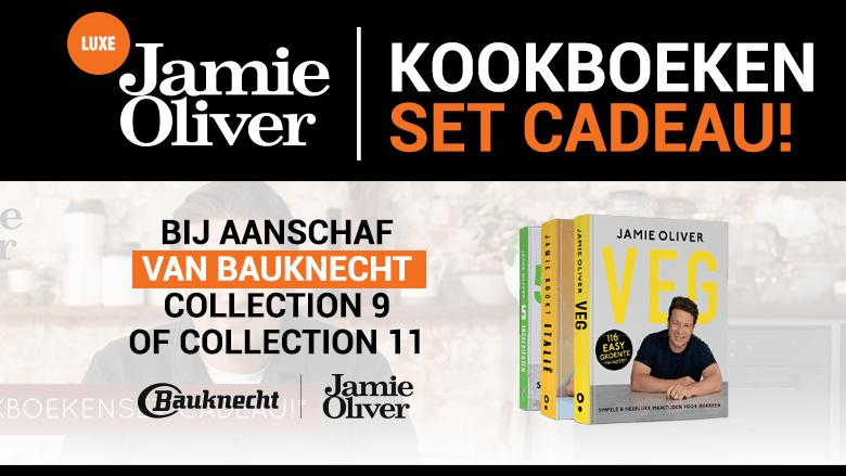 Luxe Jamie Oliver kookboeken cadeau bij aankoop van Bauknecht-apparatuur