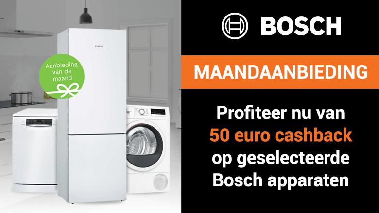 Profiteer nu van 50 euro cashback op geselecteerde Bosch apparaten