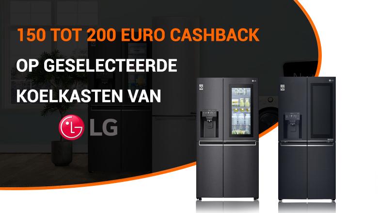 Ontvang tot 200 euro cashback op geselecteerde LG koelkasten!